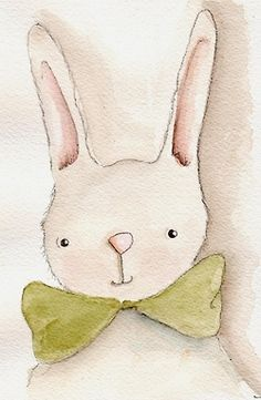 заяц  Bunny / watercolor