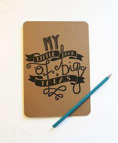 A5 Blank Notebook  My Little Book of Big Ideas by stephsayshello, £2.80