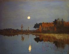 Isaac Levitan (Russian, 1860-1900)    The Twilight Moon    1899. Oil on canvas, The Russian Museum collection, St. Petersburg, Russia.