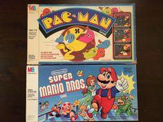 3 VIDEO GAME BOARD GAMES PACMAN CENTIPEDE PACMAN MARIO BROS