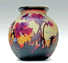 Resultado de imagen para Müller Freres Luneville art glass vases and lamps