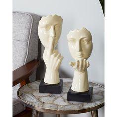 Decorative Arts Trend Mark Big 100% Solid Ceramic Gold Boy Girl Elegant Bookends Gorgeous Pieces Other Antique Decorative Arts
