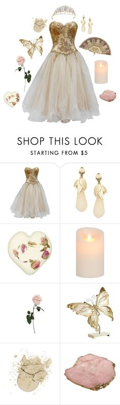 """""""Memories"""" by conquistadorofsorts ❤ liked on Polyvore featuring Vicky Tiel, Robert Rose, Pier 1 Imports, Anna New York and TIARA"""