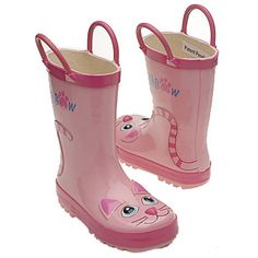 Pink Cat Boots by Western Chief