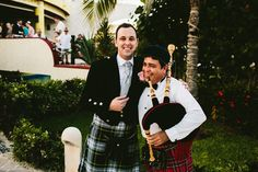 TZANA and SCOTT | MARRIED | CANCUN. Texas Bride. Scottish Groom. Mexico Beach Wedding. Wedding Details. Mexican Bagpiper - #MemorableMoments - Wyn Wiley Photography - Azul Senatori Resort, Riviera Maya, Mexico. Dec 2014