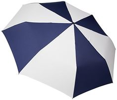 Totes Umbrella Auto Golf Size  55 Extra Large Coverage Push Button Automatic Open with Carry Bag Navy BlueWhite *** For more information, visit image link. Note:It is Affiliate Link to Amazon.