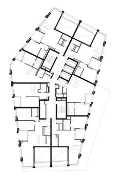 Plans of Architecture Architecture Drawings, Architecture Plan, Beautiful Architecture, Residential Architecture, Classical Architecture, The Plan, How To Plan, Hotel Floor Plan, House Floor Plans