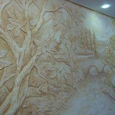 Роспись стен, барельеф, картины, Новосибирск