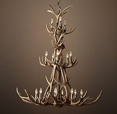 Large antler chandelier by jason miller antlers chandeliers and house adirondack antler restoration hardware mozeypictures Image collections