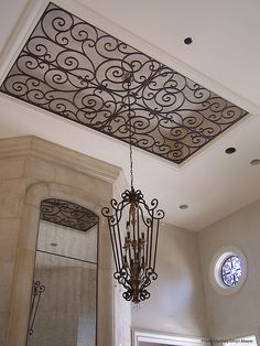 Faux Wrought Iron Ceiling Decor. | Flickr - Photo Sharing!