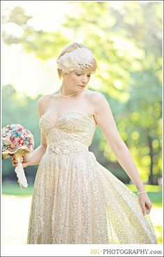 Golden Lights by Sarah Seven, headpiece by Jannie Baltzer, and sash by Untamed Petals all from Everthine Bridal Boutique  HK - Photography