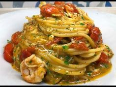 Italian Main Courses, Pasta Dinner Recipes, Happy Foods, Italian Pasta, Scampi, Greens Recipe, Pasta Dishes, Gourmet Recipes, Food Inspiration