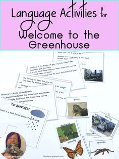 Book companion language activities for Welcome to the Greenhouse. Focuses on labeling, describing, and comparing animals found in the greenhouse environment. Combine science and speech therapy activities. Speech Language Therapy, Speech Therapy Activities, Language Activities, Writing Activities, Speech And Language, Phonological Awareness Activities, Teaching Special Education, Special Needs Students, Vocabulary Cards