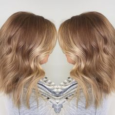 Hazelnut Honey blonde hair color - New Hair Blonde Balayage, Blonde Highlights, Color Highlights, Hazelnut Hair, Honey Blonde Hair Color, Dark Blonde, Blonde Hair Honey Caramel, Hair Color 2017, Bobs