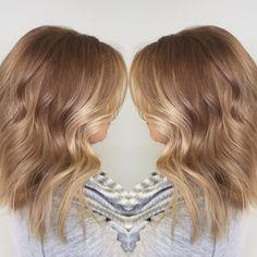 Hazelnut Honey blonde hair color #hairbybradleyleake