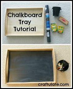 Chalkboard Tray Tutorial by Craftulate