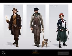 Falconers - Colonials reference  www.thefalconers.wordpress.com  Assassins Creed Syndicate Art Book. The Folk Of Syndicate