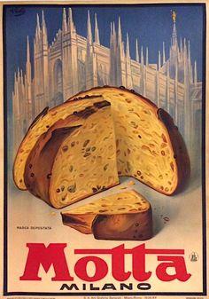 Panettoni #Motta #Milano #original #vintage #poster  manifesti originali d'epoca www.posterimage.it