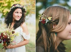 Rustic Wedding Inspiration; I wish I was a punk rocker with flowers in my air. My wedding day will be that day.
