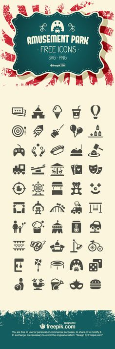 Amusement Park Icons Pack, #Free, #Graphic #Design, #Icon, #PNG, #Resource, #SVG, #Vector