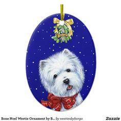Westie Christmas Stickers Westie Dog Sled by Borgo