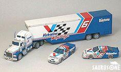 nascar paper models | Valvoline Racing NASCAR 18wheller