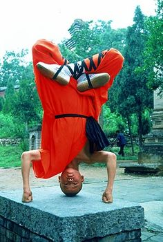 Shaolin monk. Cannot believe some of the stuff we saw them do. This guy could probably take me down with his pinky finger.