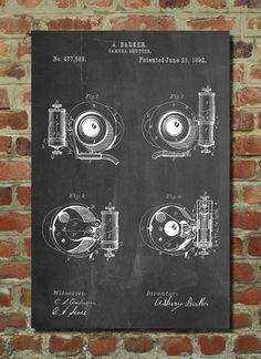 Asbury Frictionless Camera Shutter Patent Poster by PatentPrints