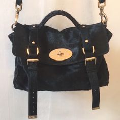 Mulberry Alexa in black hair calf £550