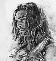 """Love breaks my bones and I laugh"" 🖤 Jason Drawing, Guy Drawing, Drawing For Kids, Drawing Sketches, Sketching, Iron Man Photos, Realistic Face Drawing, Jason Momoa Aquaman, Cartoon Drawings"