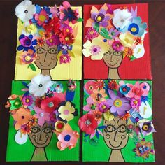 Spring Art, Spring Crafts, Art For Kids, Crafts For Kids, Classe D'art, Rainbow Crafts, School Art Projects, Art N Craft, Art Lessons Elementary
