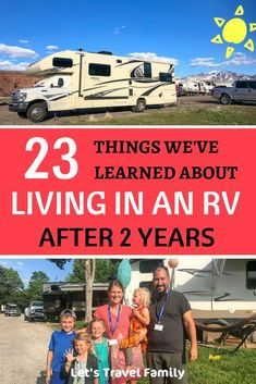 Get your BIG questions answered about living in an RV full time with kids and without. After 2 years on the road in the USA as a full time RV living family, we answer the most common RV life questions and provide some insights, thoughts and tips for RVing Travel With Kids, Family Travel, Motorhome Living, Volkswagen, Rv Travel, Travel Tips, Travel Trailers, Go Camping, Camping Ideas