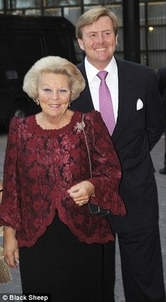 Queen Beatrix with her son Prince Willem Alexander