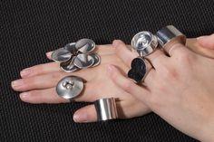 A selection of vintage Pekka Piekainen rings for Auran Kultaseppa