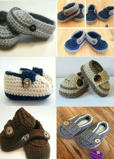Love these crochet baby boy shoes ★