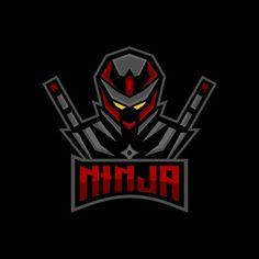 Ninja E Sports Logo Design Inspiration Stock Vector (Royalty Free) 1566324016 Game Logo Design, Logo Design Template, Sprites, Katana, Assassin, Martial, Sports Team Logos, Esports Logo, Cartoon Posters
