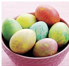 How to Make Marble Easter Eggs