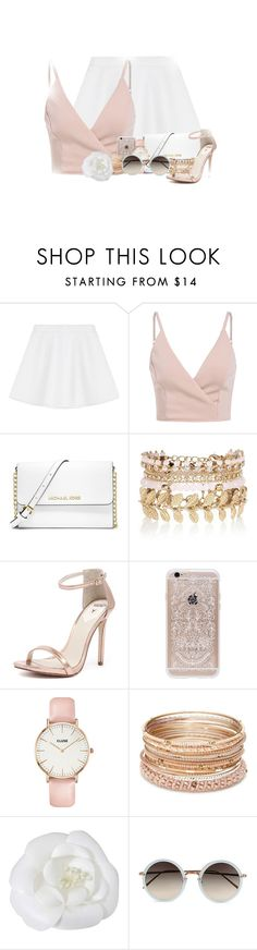 """""""I Like You"""" by abigaillieb ❤ liked on Polyvore featuring RED Valentino, MICHAEL Michael Kors, River Island, Windsor Smith, Rifle Paper Co, CLUSE, Red Camel, Chanel and Linda Farrow"""