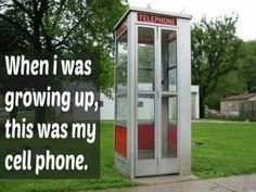 Oh how funny right?! Kids these days wouldn't be able to wait for someone to get off that phone!!