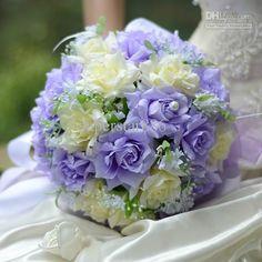 2013 Beautiful Romantic PE Wedding Bouquet Orange Artificial Rose Flowers ><7865tu Bridal Bouquets 8 Colors Bridal Throw Bouque
