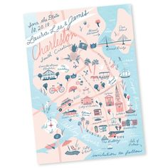 Custom Save the Date, Wedding Map, Wedding Invitation Insert, Printable File - Charleston, SC - Any Location