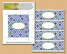 Free printable candy bar wrappers and labels
