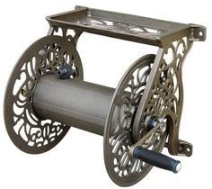 nice Liberty Garden Products Decorative Non-Rust Cast Aluminum Wall Mounted Garden Hose Reel With Capacity - Antique Finish 704 Garden Hose Storage, Garden Hose Holder, Hose Hanger, Metal Hose, Hose Reel, Water Hose, Lawn And Garden, Garden Tools, Garden Water