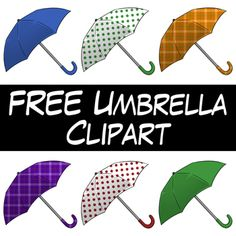 FREE Umbrella Clipart from Wendy Candler of Digital Classroom Clipart