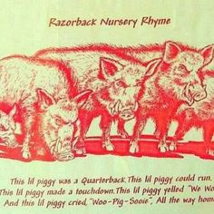 Wooo Pig, Razorbacks Nursery Rhyme