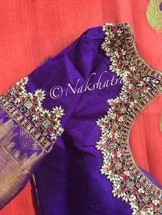 guttapusalu blouse patterns Guttapusalu blouse designs for silk sarees, new maggam work blouse designs, pearl work blouse designs, guttapusalu work blouse, Wedding Saree Blouse Designs, Pattu Saree Blouse Designs, Fancy Blouse Designs, Zardosi Work Blouse, Wedding Sarees, Hand Work Blouse Design, Stylish Blouse Design, Maggam Work Designs, Bollywood