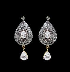 Off #White American #Diamond Studded Imitation #Earring @ $50.28