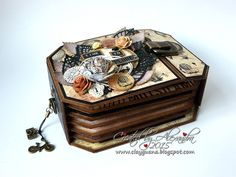 """Hello everyone!   I want to share with you today a new mini album I've created, using the paper collection """"Cartographer"""" from Prima. I almo..."""