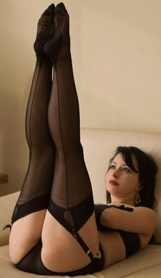 theteasingteacher: Black Seamed Stockings http://www.pinterest.com/pin/285415695109024293/