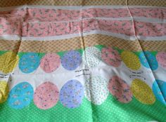 Easter Basket Fabric Panel Fabric Easter by VintagePlusCrafts, $5.00